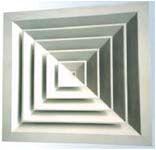 Anemostate rectangulare aluminiu